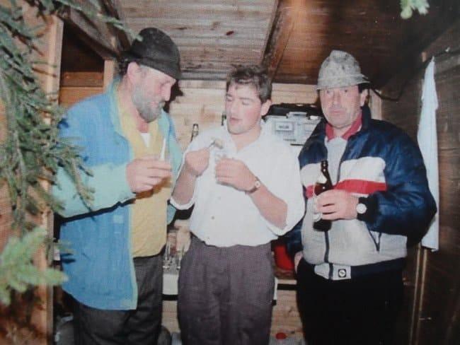 Bruno, Martin und Lothar in der Glühweinbude